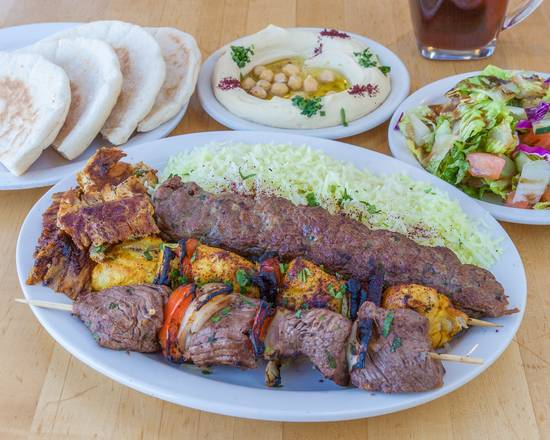Falafel & Grill Combo Combination Meat Plate